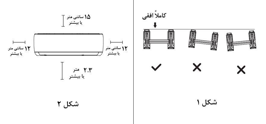 روش صحیح نصب کولر گازی بوش اینورتر 30000