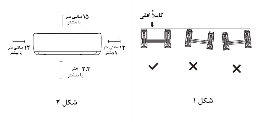 روش صحیح نصب کولر گازی بوش اینورتر 9000