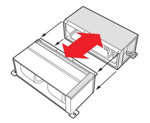 حجم و وزن کم بخش داخلی داکت اسپلیت بوش